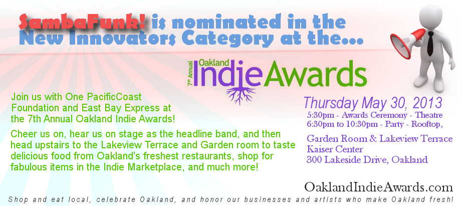 SambaFunk at Oakland Indie Awards